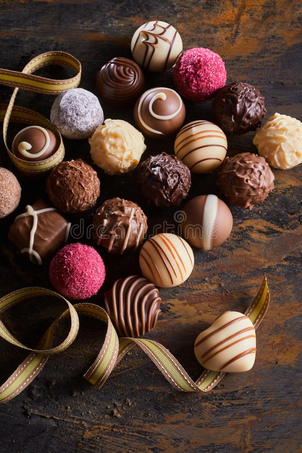 Free Valentines Luxury Chocolate Or Praline Assortment Royalty Free Stock Photography - 148295387