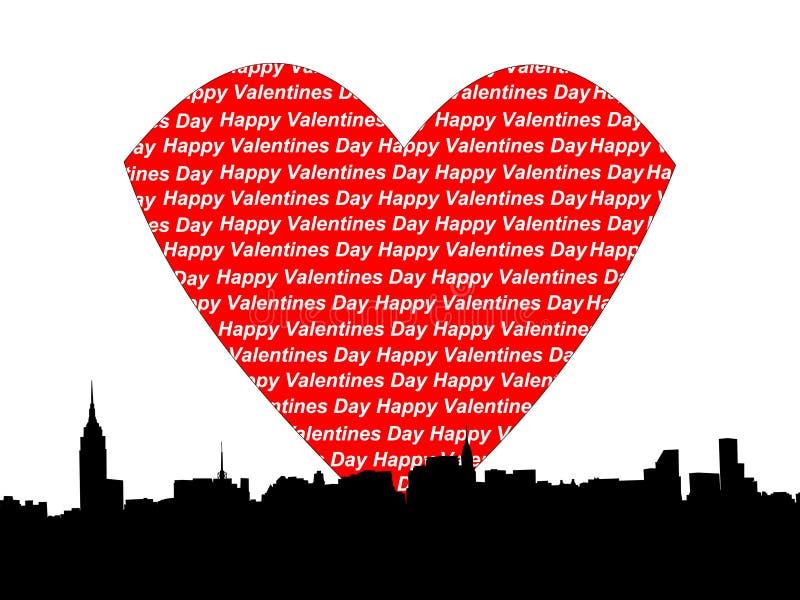 valentines manhattan дня бесплатная иллюстрация