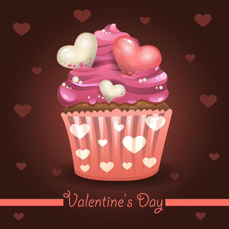 Valentines muffin royalty free illustration