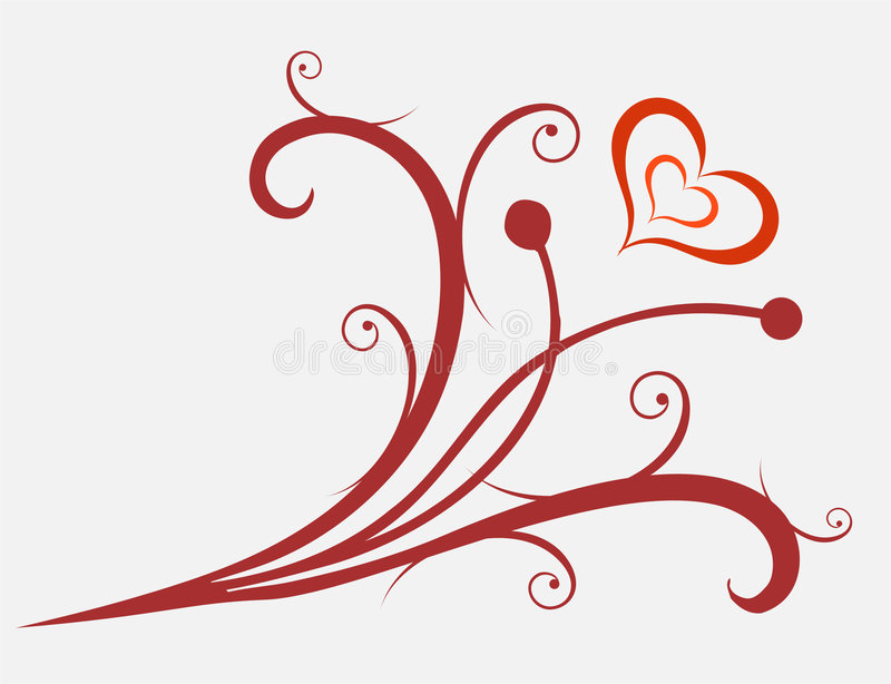 Valentines ornament vector illustration