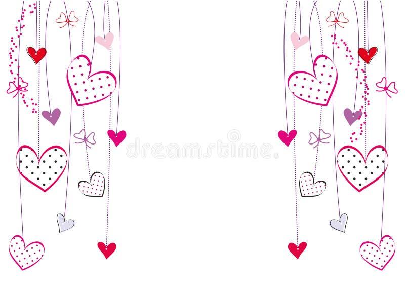 Valentines ou carte de mariage illustration stock