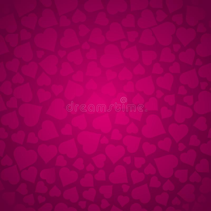 Valentines pattern with pink hearts. Pink pattern. Valentines day design. Can be used for fabric, scrap booking, wallpaper, web royalty free illustration