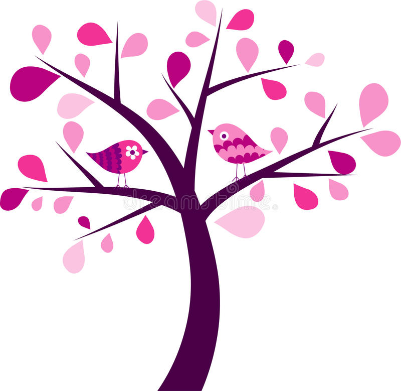 Valentines Tree Background Royalty Free Stock Image