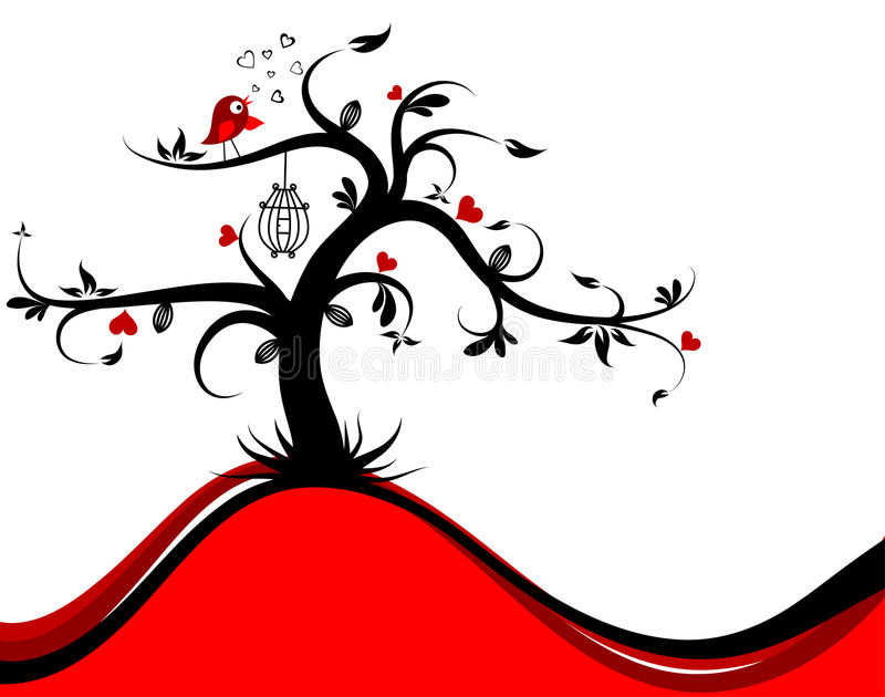 Download Valentines tree background stock vector. Image of heart - 22758553