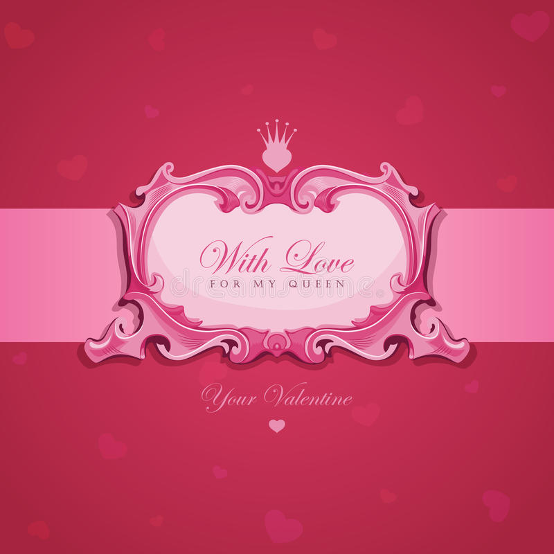 Download Valentines Vintage Greeting Card. Royalty Free Stock Photography - Image: 29063727