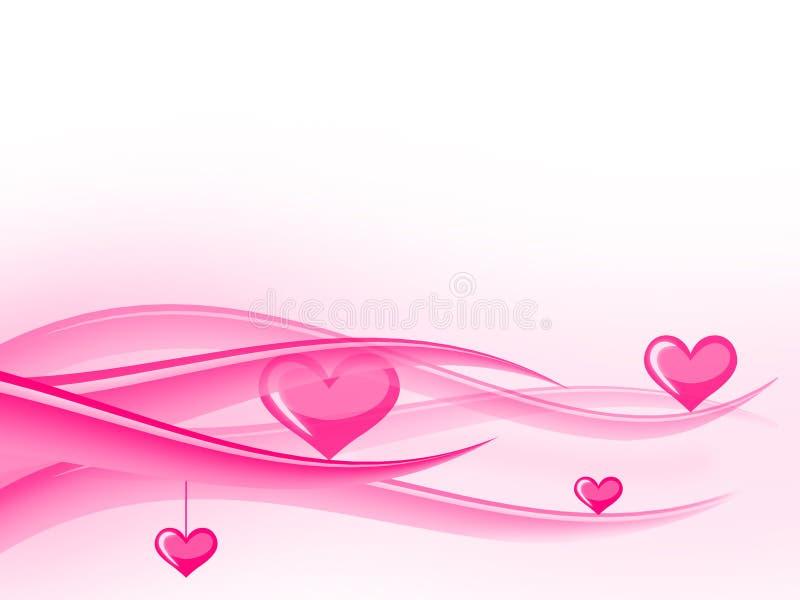 Valentines waves stock image