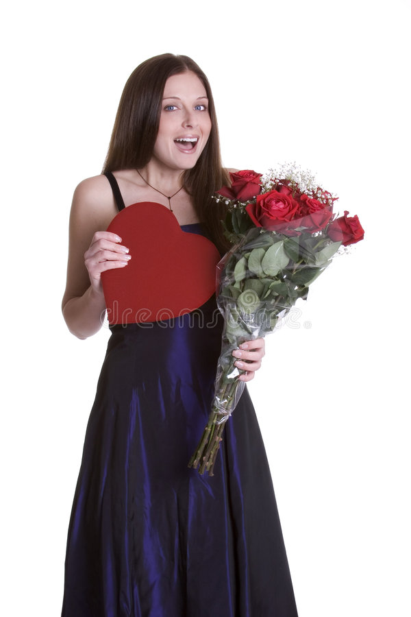 Valentines Woman royalty free stock photography