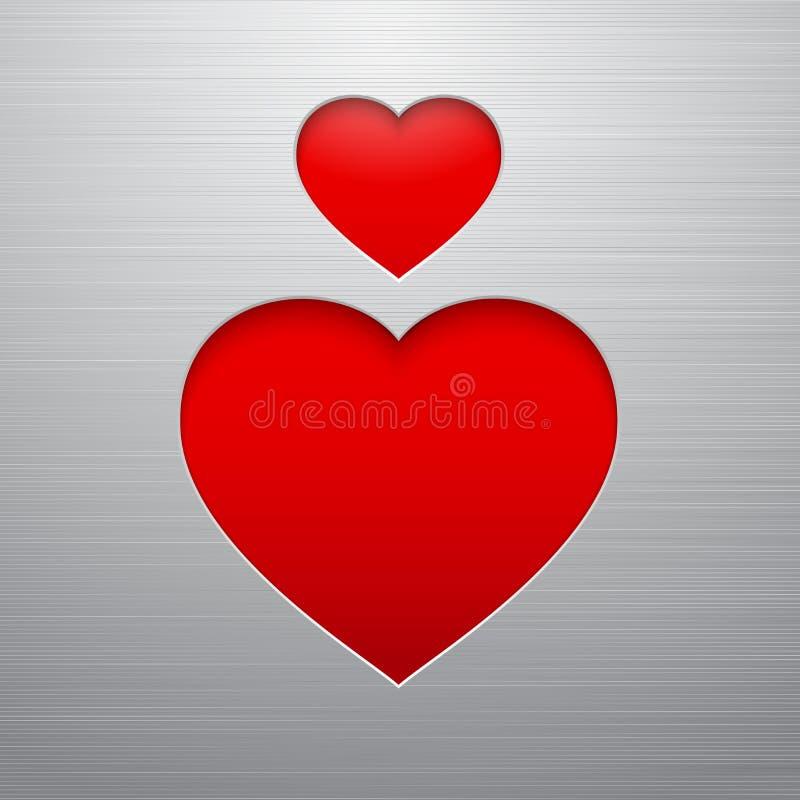 Valentiness daghjärta stock illustrationer