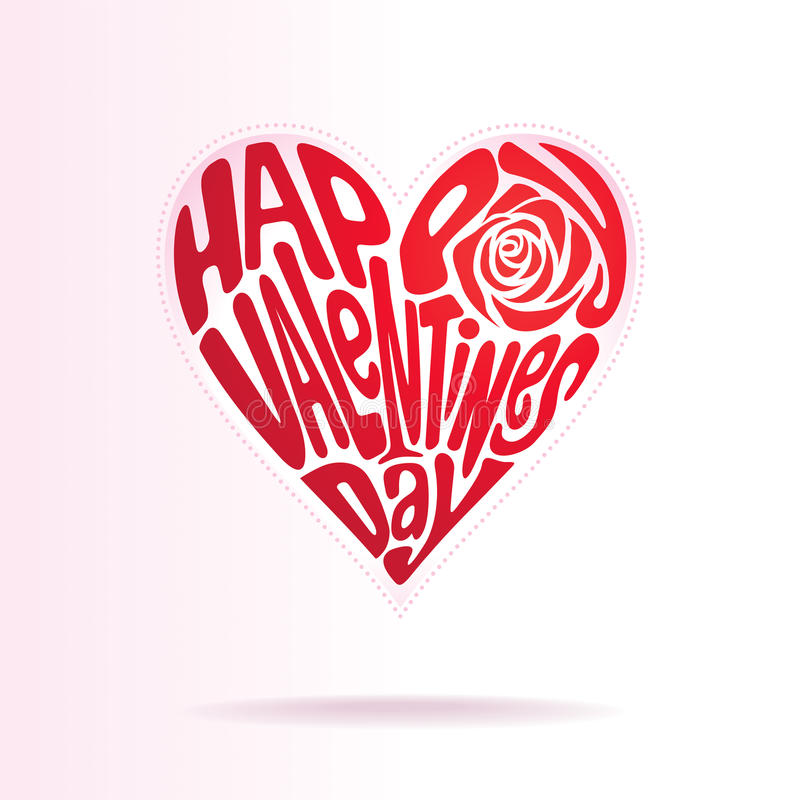 ValentinförälskelseShape Arkivbilder
