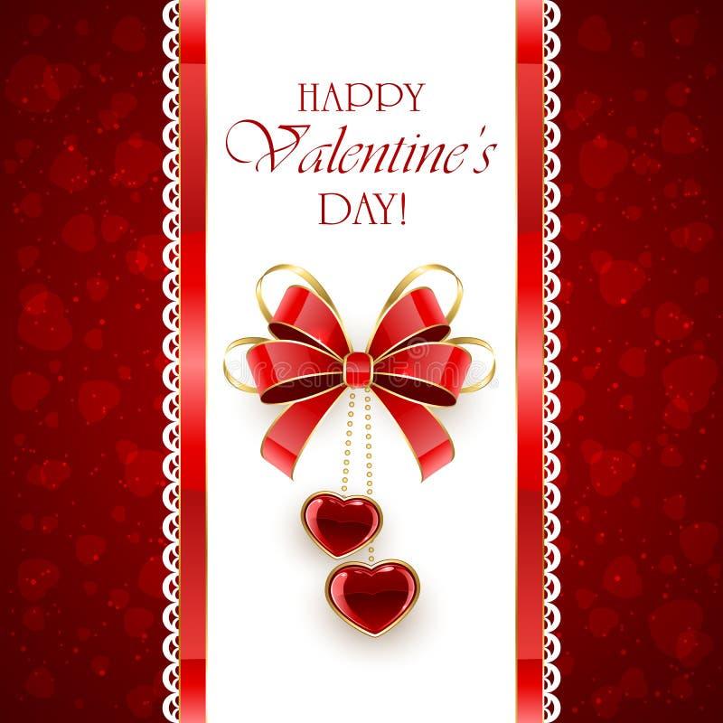 Valentingarneringar med hjärtor och pilbågen stock illustrationer