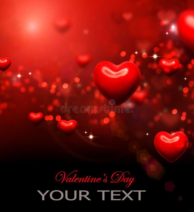 Valentinhjärtabakgrund stock illustrationer
