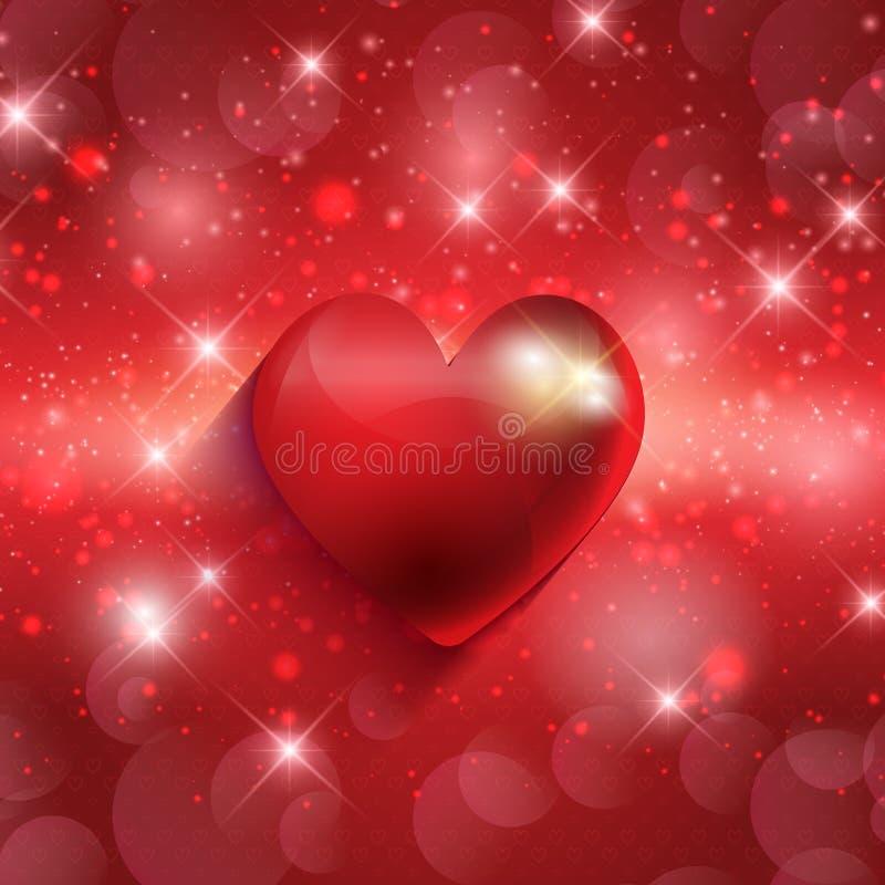 Valentinhjärtabakgrund vektor illustrationer