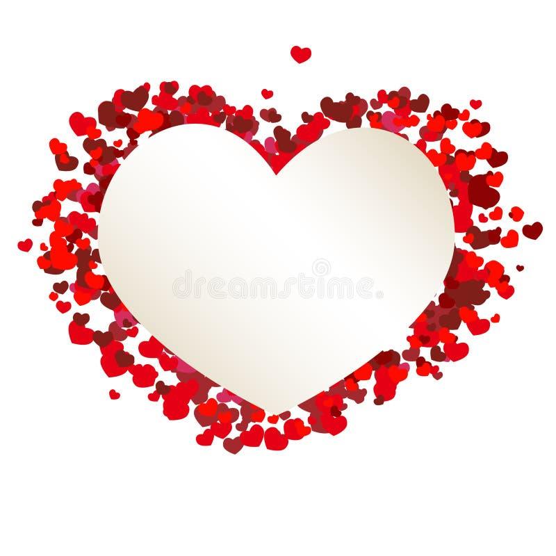 Valentinhjärtabaner royaltyfri illustrationer