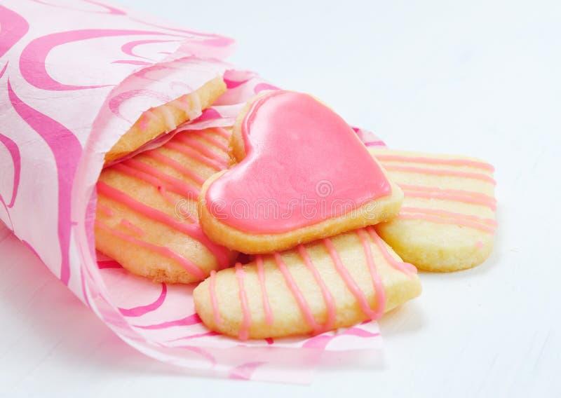 Valentinkakor i forma av hjärta royaltyfria foton