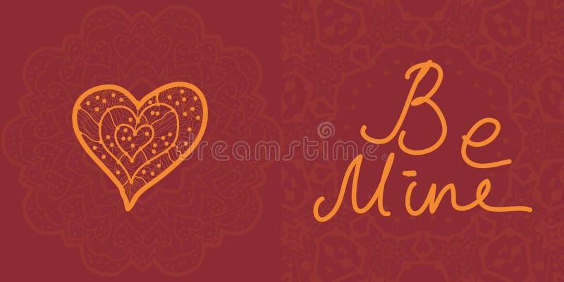 Valentinkort, redigerbar vektordesign royaltyfri illustrationer