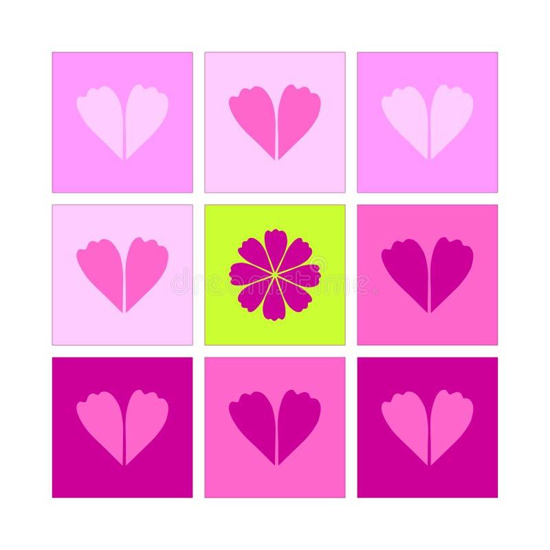 Valentinkort14th februari beröm stock illustrationer