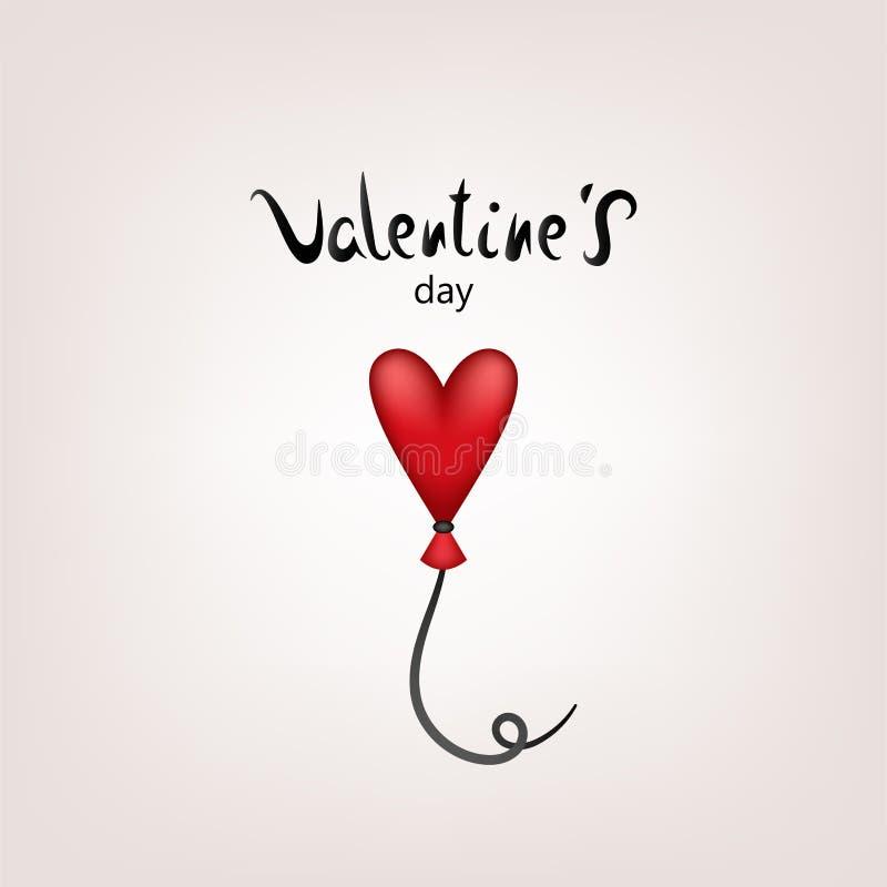 Valentinkortballon stock illustrationer