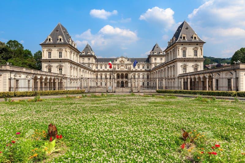 Valentino Castle em Turin, Itália fotografia de stock