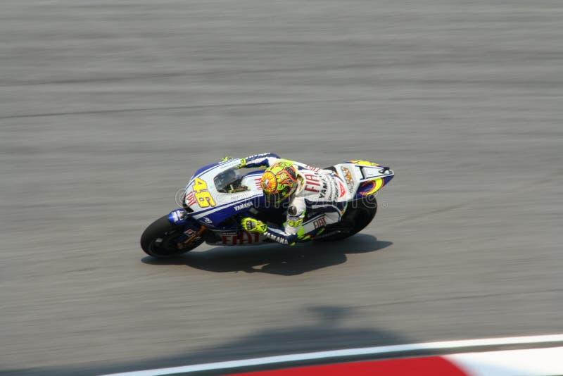 Valentino italiano Rossi de las personas de Autorización Yamaha fotos de archivo