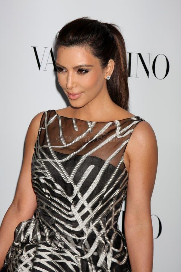 Valentino, Kim Kardashian foto de stock royalty free