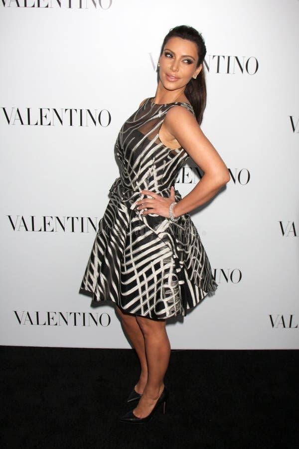 Valentino, Kim Kardashian imagem de stock royalty free