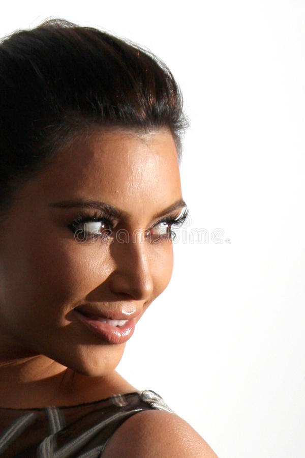 Valentino, Kim Kardashian foto de stock