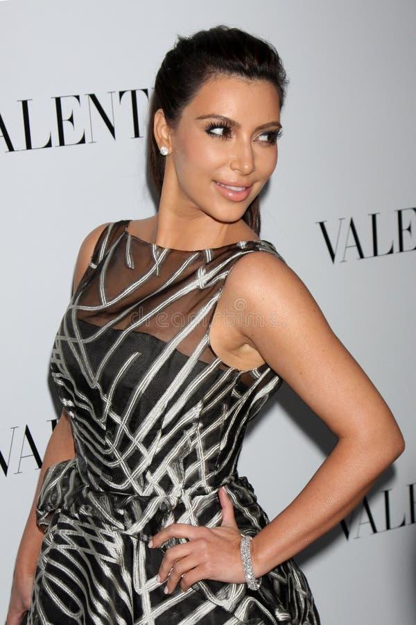Valentino, Kim Kardashian fotografia de stock