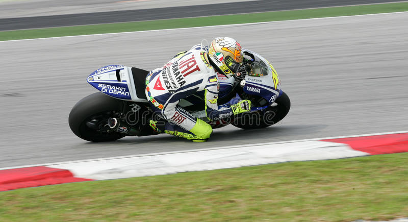 Download Valentino Rossi in action editorial stock image. Image of malaysia - 13346979