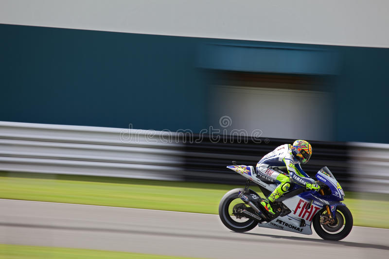 Valentino Rossi British MotoGP Donington 2009 royalty free stock images