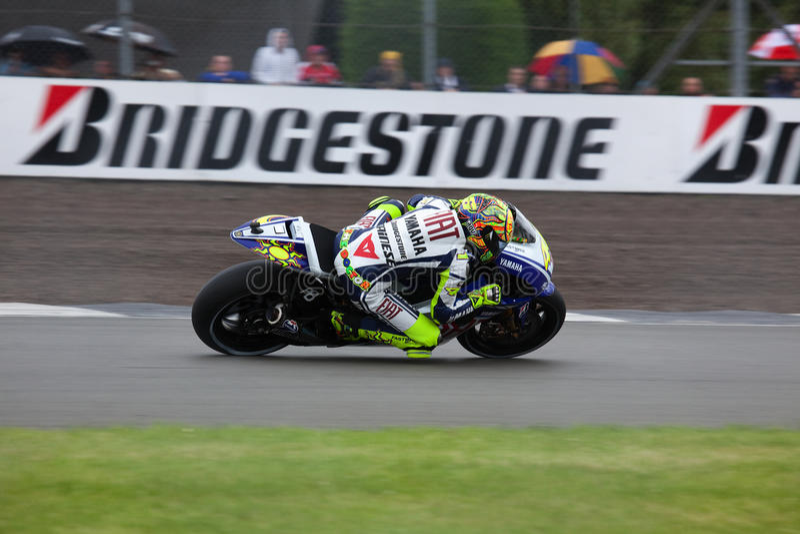 Valentino Rossi Britse MotoGP Donington 2009 stock fotografie