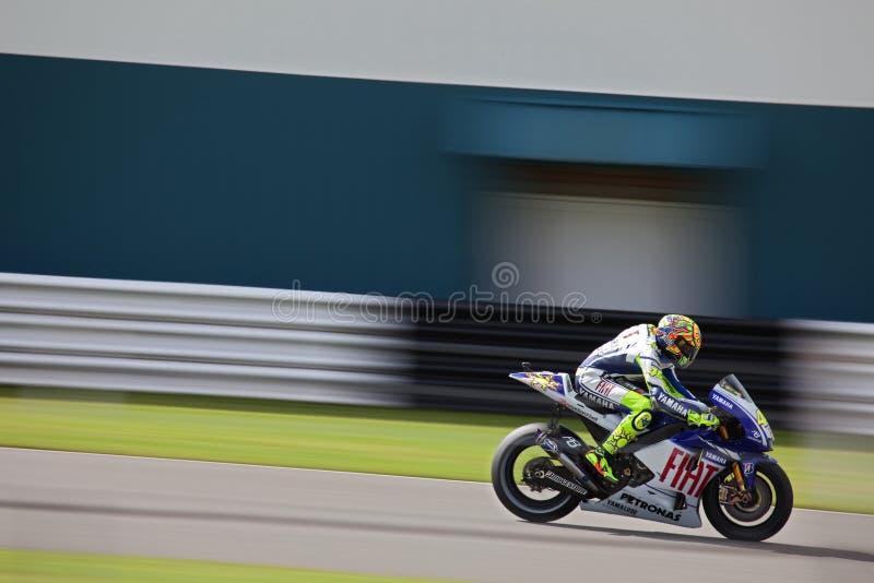 Valentino Rossi Britse MotoGP Donington 2009 royalty-vrije stock afbeeldingen