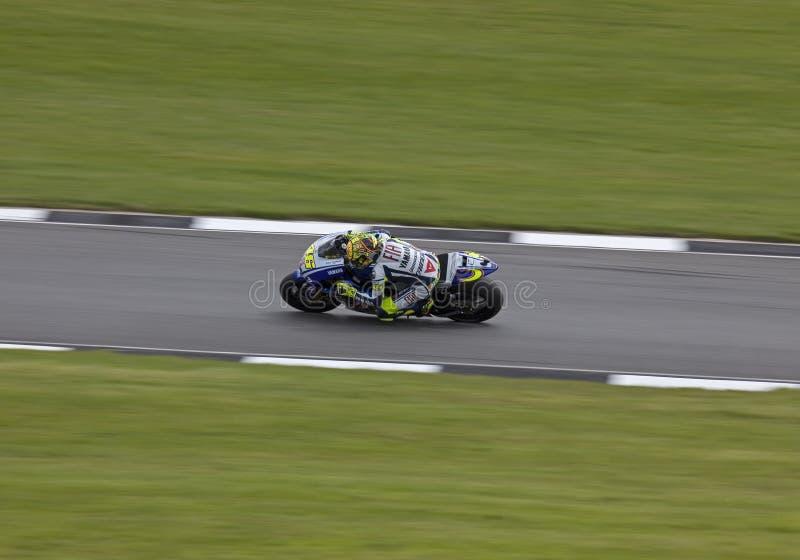 Valentino Rossi Donington MotoGP 2009 royalty-vrije stock afbeelding