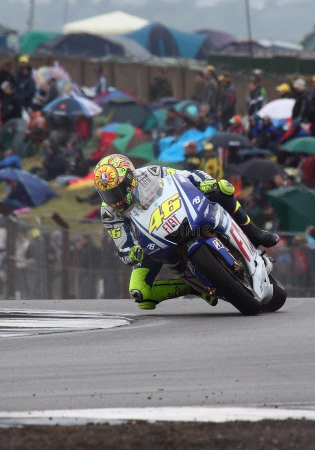 Valentino Rossi Donington MotoGP 2009 stock afbeeldingen