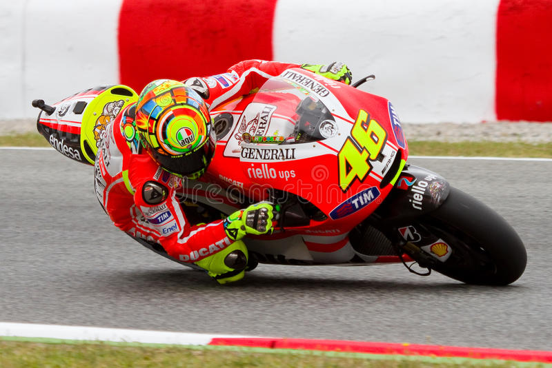 Valentino Rossi (Ducati) imagens de stock