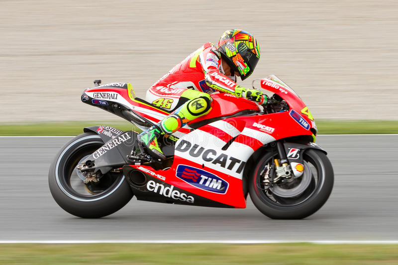 Valentino Rossi (Ducati) editorial photography. Image of curve ...
