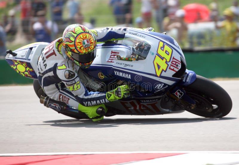 Valentino Rossi en el circuito de Brno fotos de archivo