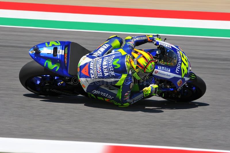 Valentino Rossi MOVISTAR YAMAHA MOTOGP em Mugello 2015 foto de stock