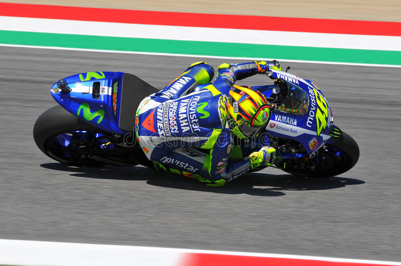 Valentino Rossi MOVISTAR YAMAHA MOTOGP at Mugello 2015 stock photo