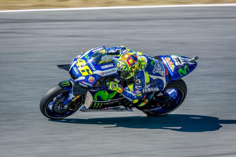 Valentino Rossi na energia 2016 do monstro MotoGP de Catalunya em Barcelona circuita o 3 de junho de 2016 foto de stock