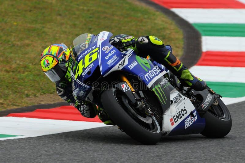 Valentino Rossi YAMAHA MOTOGP 2014 fotografia de stock
