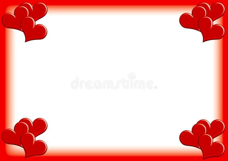 Valentinphotoframe royaltyfri illustrationer