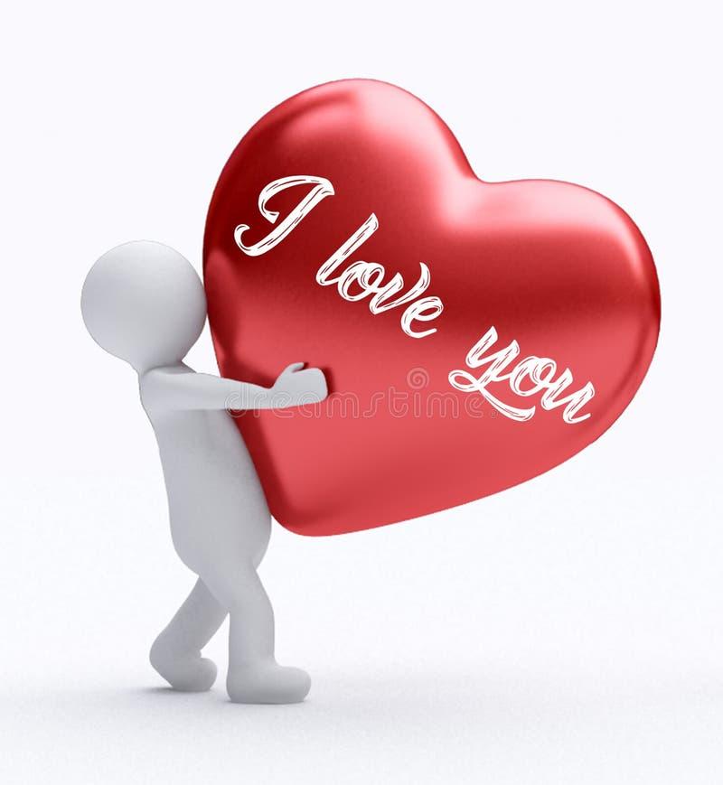 Valentins bakgrund för kortet för daggåvan, älskar jag dig royaltyfri illustrationer