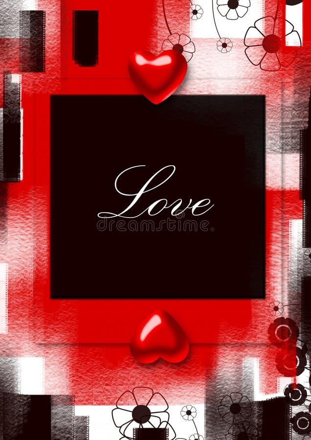 Valentinsgrüße grunge Hintergrund lizenzfreie abbildung