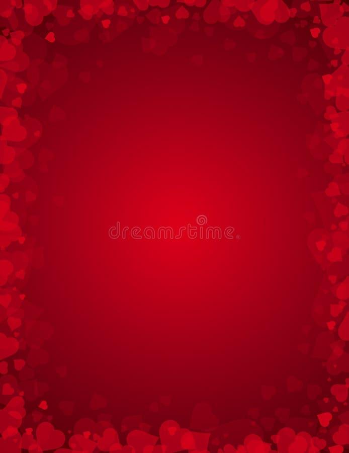 Valentinsgrüße Hintergrund, Vektor lizenzfreie abbildung