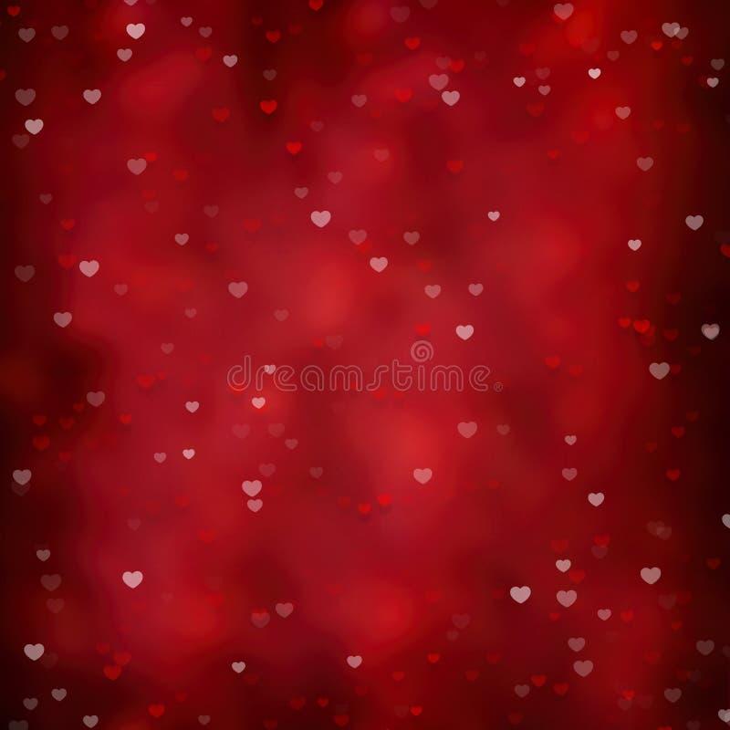 Valentinsgrüße und Hochzeitshintergrund mit Herzen lizenzfreie abbildung