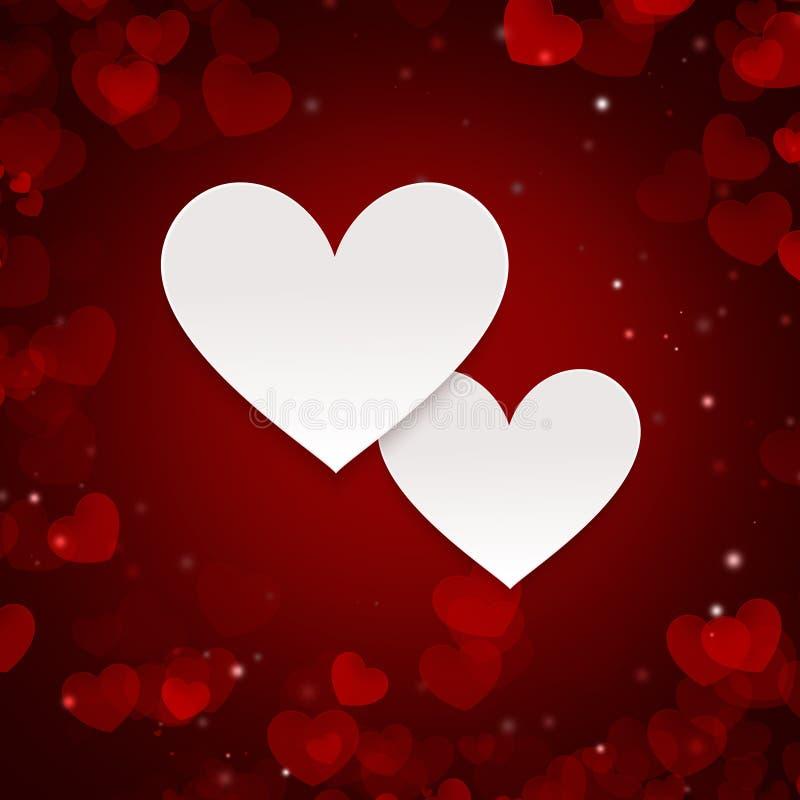 Valentinsgrüße und Hochzeitstag Zusammenfassung erläuterter Hintergrund mit stock abbildung