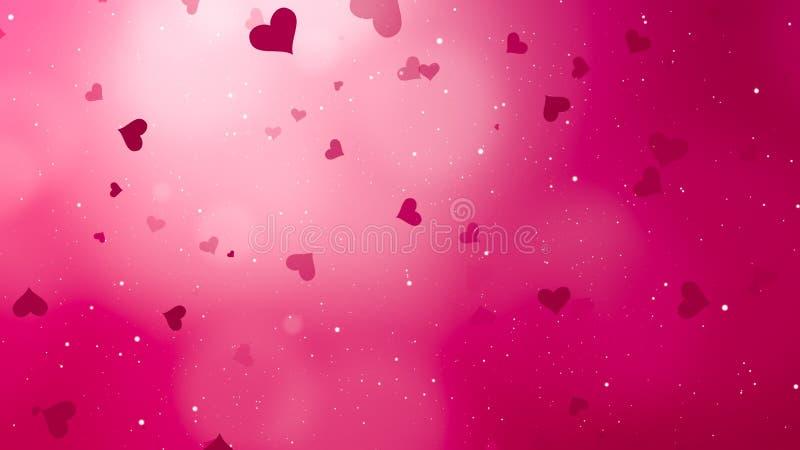 Valentinsgruß bokeh Hintergrund stockbilder