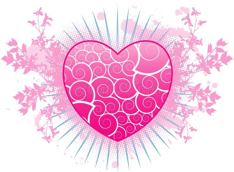 Valentinsgruß grunge Hintergrund lizenzfreie abbildung
