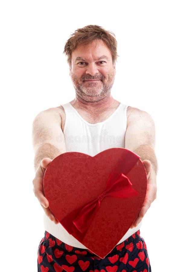 Valentinsgruß-Herz-Kerl stockfotos