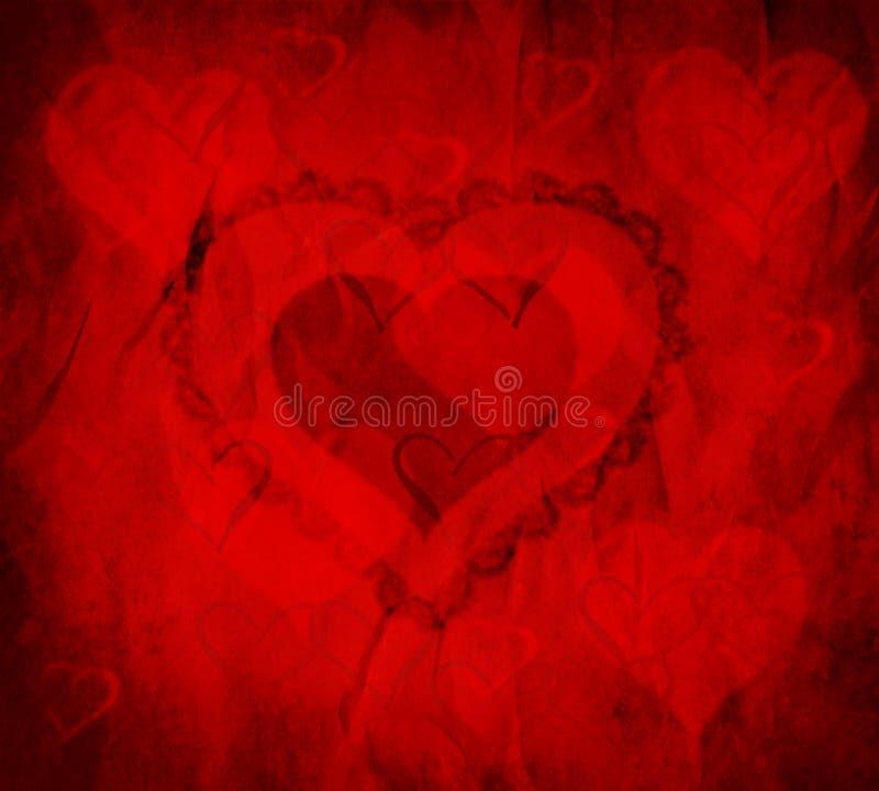 Valentinsgruß-Inneres lizenzfreie abbildung